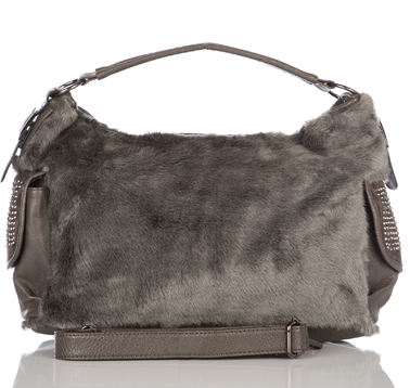 grey-fur-handbags-women's -purse-bags-leatherbagsUK