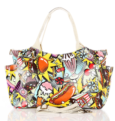 handbags, comic book graphic satchel - shoulder bags - gift ideas