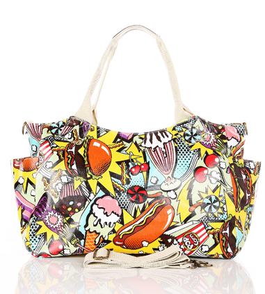 handbags, comic book graphic satchel - shoulder bags - gift ideas