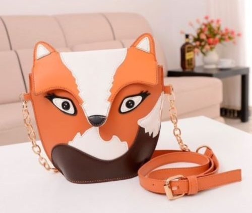 Owl Satchel Messenger Ladies Shoulder Bag Cute Fox Girls Handbag CrossBody Purse