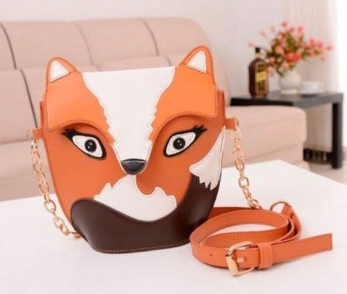Owl Satchel Messenger Ladies Shoulder Bag Cute Fox Girls Handbag CrossBody Purse