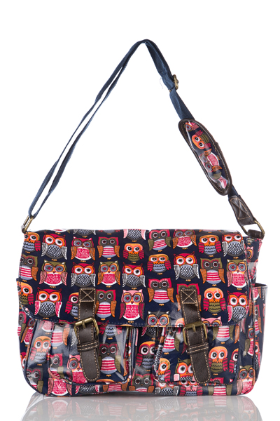 BIG EYE OWL BLUE SATCHEL