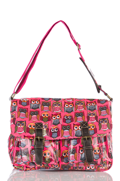 LARGE EYE PINK OWL MESSENGER BAGS - AMA