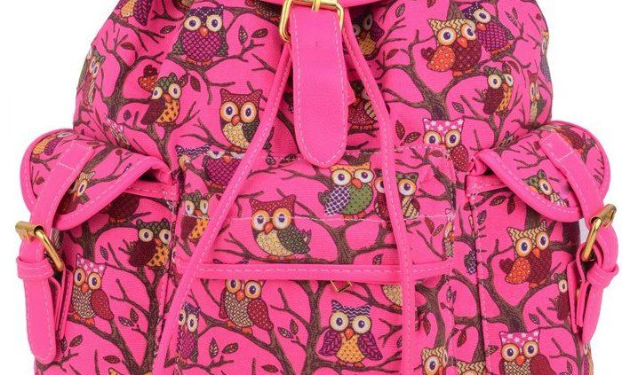 pink rucksacks, edsfashions.co.uk