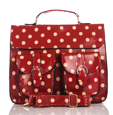maroon-polkadot-satchel-messenger-bags
