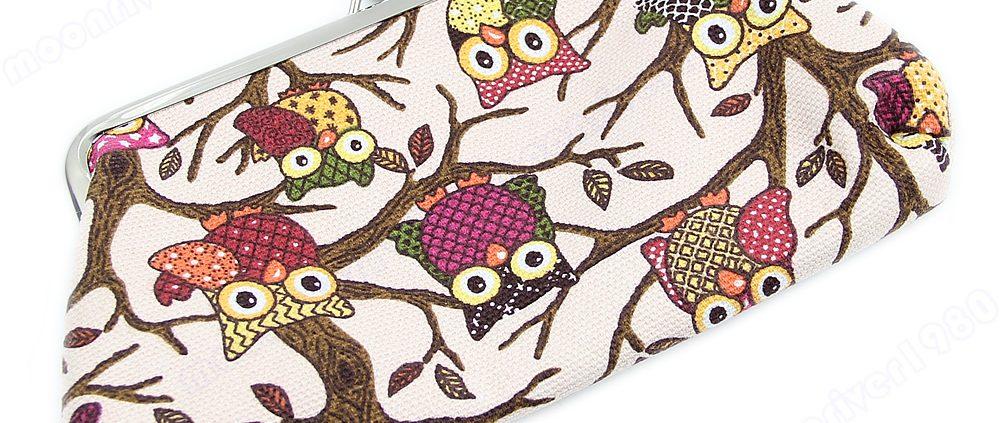 New European Style Women Lovely Owl Hasp Purse Lady Wallet Clutch Bag