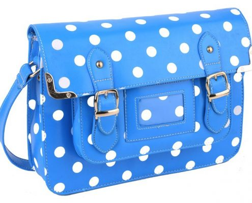 NEW IN - DELIGHTFUL BLUE! Polka Dot Satchel.