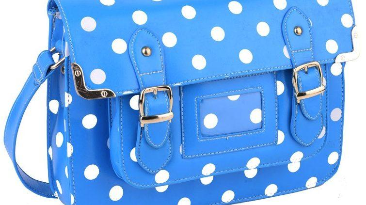 NEW IN - DELIGHTFUL BLUE! Polka Dot Satchel.