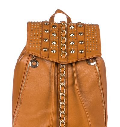 Chain Trim Studded Rucksack