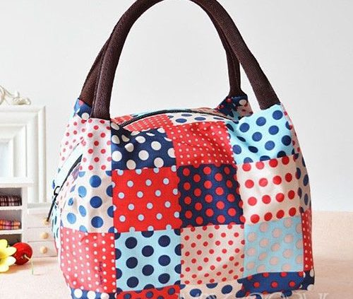 Colourful Dot Canvas Bag