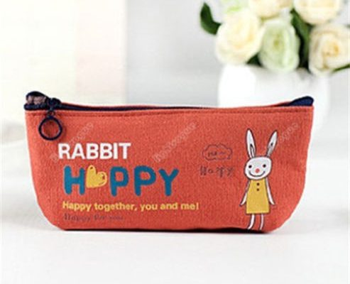 Hot Stationery Canvas Pencil Pen Case Coin Purse Makeup Buggy Bag Pouch