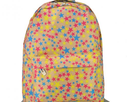BEIGE - NEW LOOK BACKPACK WITH FRONT POCKET IN LITTLE STARS3