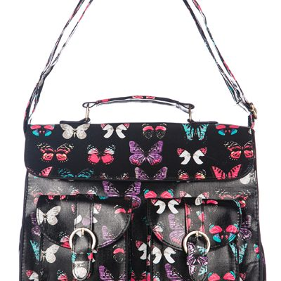 Butterfly black Satchel