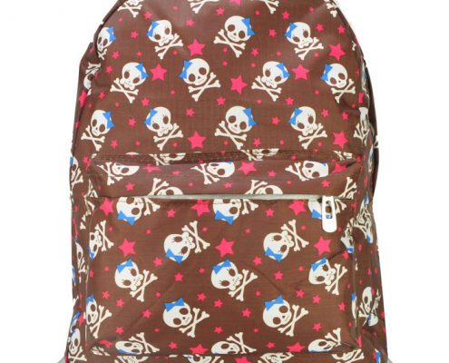 COFFEE - BACKPACK WITH FRONT POCKET IN SKULL PRINT3