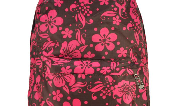 COFFEE - GORGEOUS FLOWER PRINT BACKPACK WITH FRONT POCKET