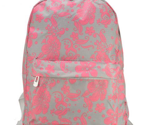 Grey-flower-rucksacks-backpacks for school-QQ1792-GRY