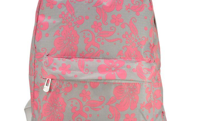 Grey-flower-rucksacks-backpacks for school-QQ1792-GRY