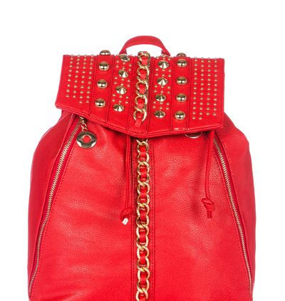 RED Chain Embellished Rucksack