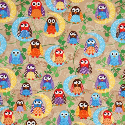 cute-brown-owls-fabric-What-a-Hoot-USA-designer-161058-2