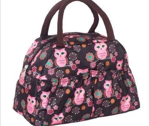 OWLS- Fashion Lady Leisure Printed Canvas Handbag Shoulder Totes Lunch Bag Waterproof