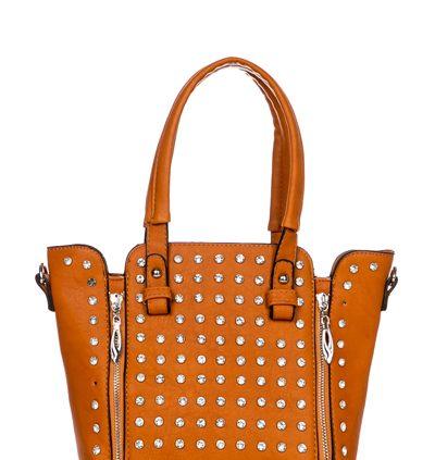 Diamante Encrusted & Zip Trim Tote Bag...£17.99