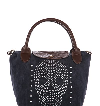 Mini Diamante Encrusted Skull Bag