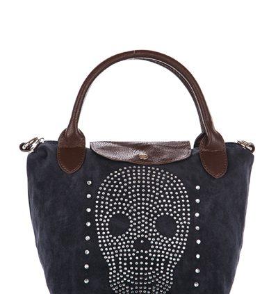 Mini Diamante Encrusted Skull Bag