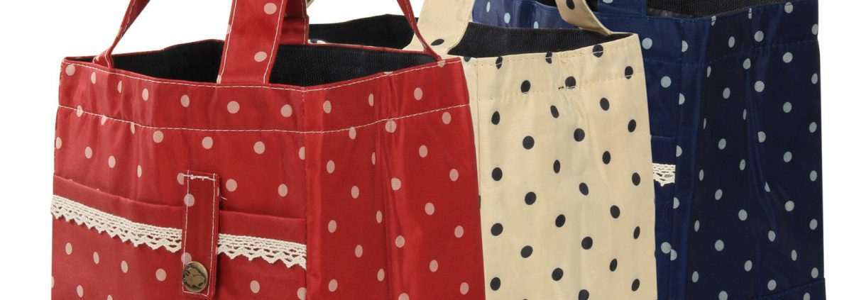 RED – Thermal Insulated Portable Lace Dot Lunch Box Picnic Tote Storage  Case Bag Pouch 508ee706dbc23