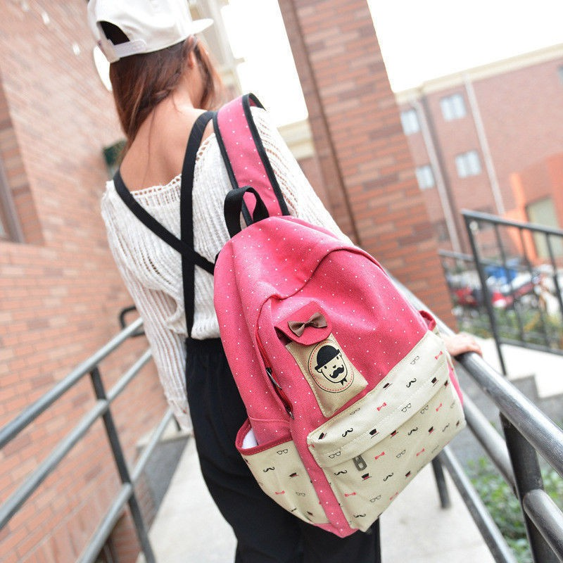 9c93eb73a0df RED – Women Lady Canvas Rucksack Backpack Travel Girls School College Gym Shoulder  Bag