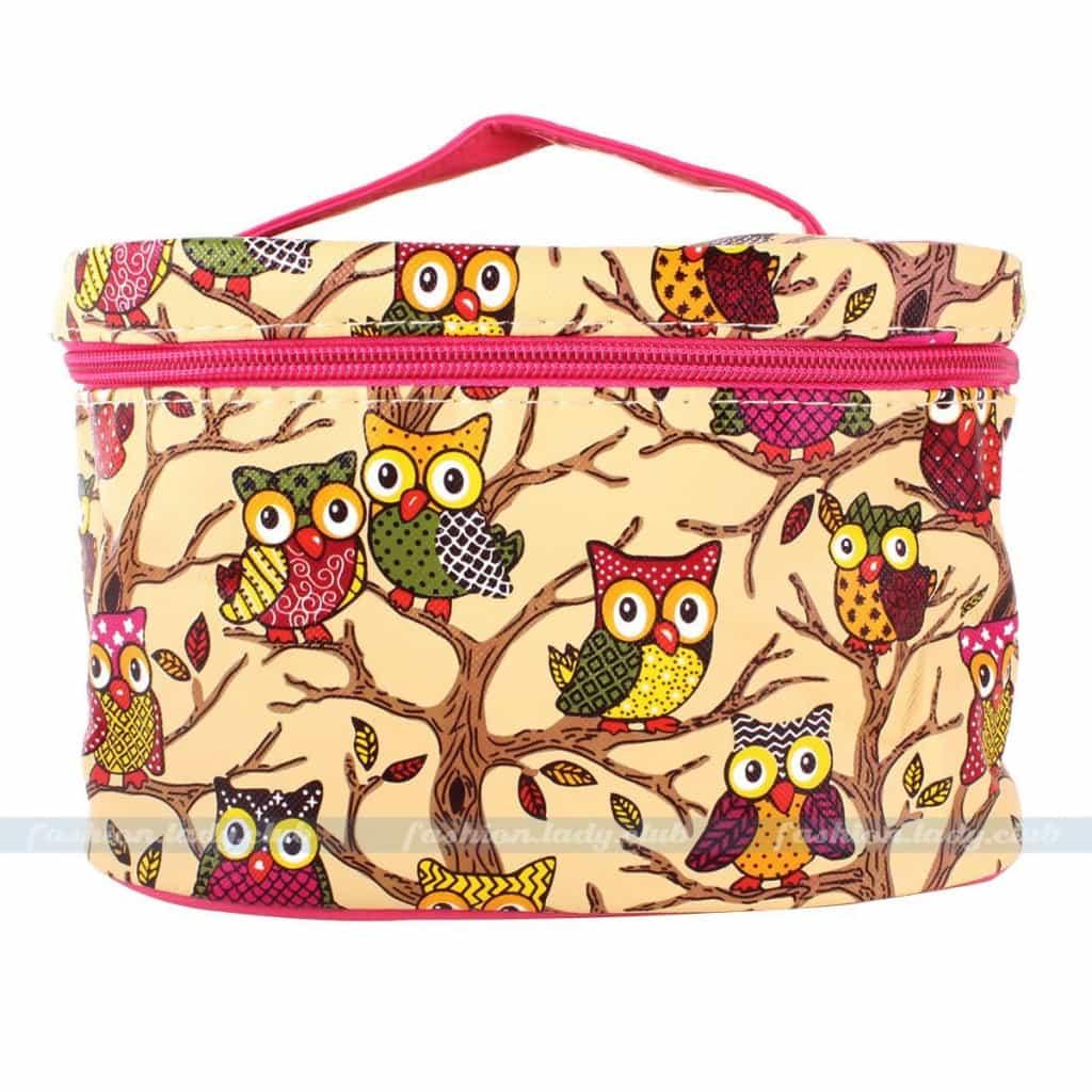 Yellow Beautiful Cute Gift Portable Owl Pattern Travel