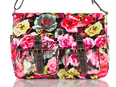 Large Flower Print Satchel - Crossbody Bags Handbags Www.edsfashions.co.uk - Ladies Handbags UK ...