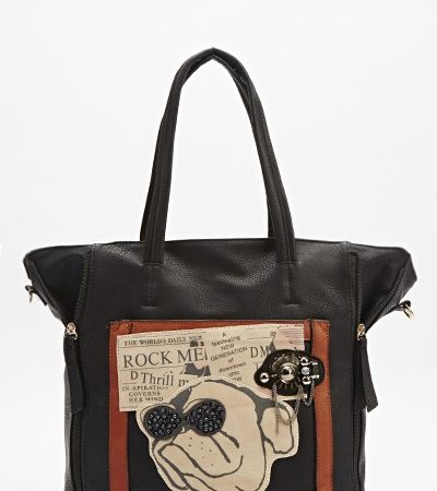 embellished-dog-print-handbag-black
