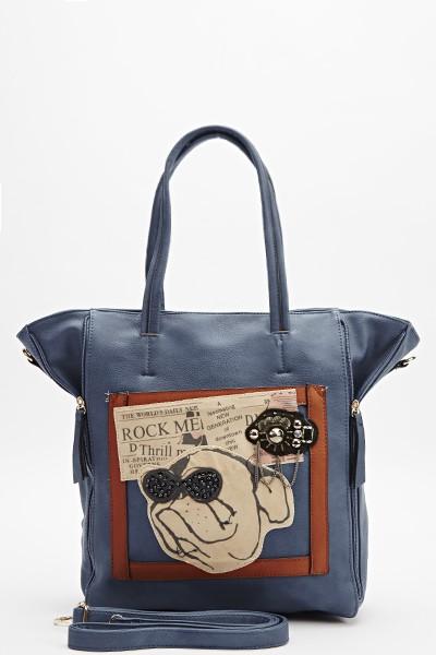 embellished-dog-print-handbag-blue-
