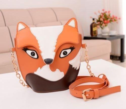 fada21a966f Satchel Messenger Ladies Shoulder Bag Cute Fox Girls Handbag CrossBody Purse