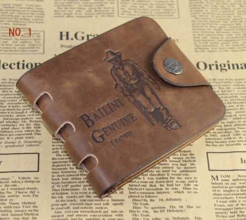 Mens Leather Wallet Pockets Card Clutch Cente Bifold Purse Money Clip Cad