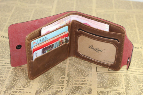 Mens Leather Wallet Pockets Card Clutch Cente Bifold Purse Money Clip Cad3