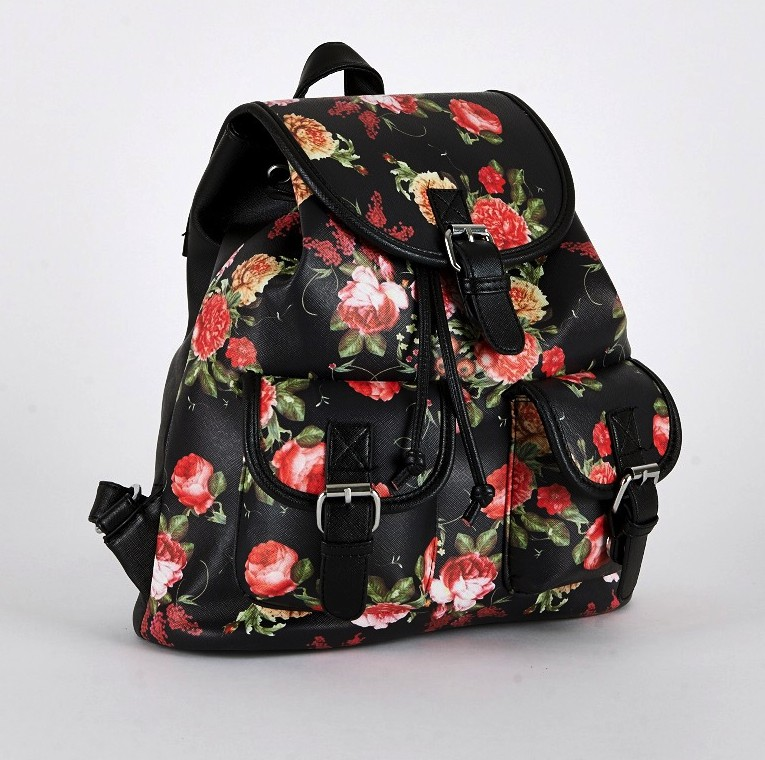 Black Floral Rucksack Stand Out From The Crowd With This