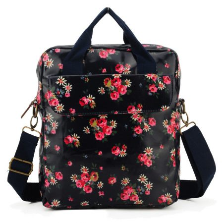 Details: -Size:L27cm * W8cm * H32cm -Color:Dark Blue -Material:Oilcloth -Zip closure -Double handle grabs -Three accessories pockets inside -Adjustable and detachable long shoulder strap -Casual,high quality,perfect for shopping and outdoor.