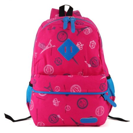 Fushia - Fashion Casual School Bag for Students