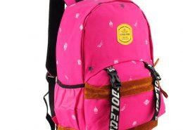 fushia - Monster Printing Kids' Backpack School Bag
