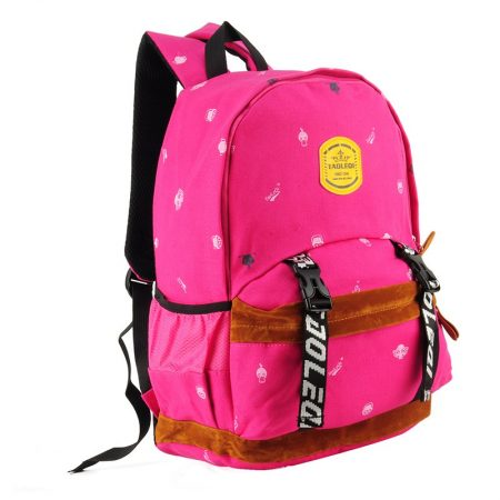 fushia - Monster Printing Kids' Backpack School Bag
