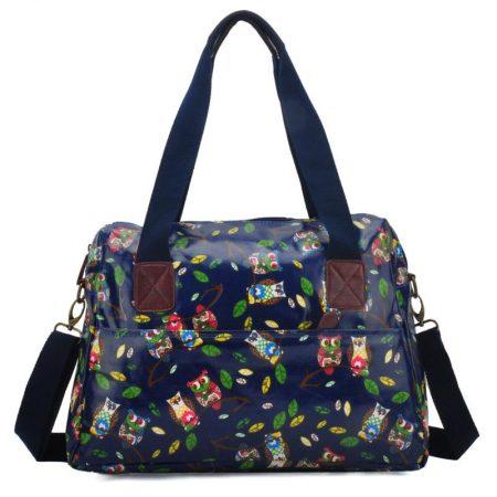 Girls Ladies Oilcloth Saddle Satchel Shoulder Messenger Bag A4 School College