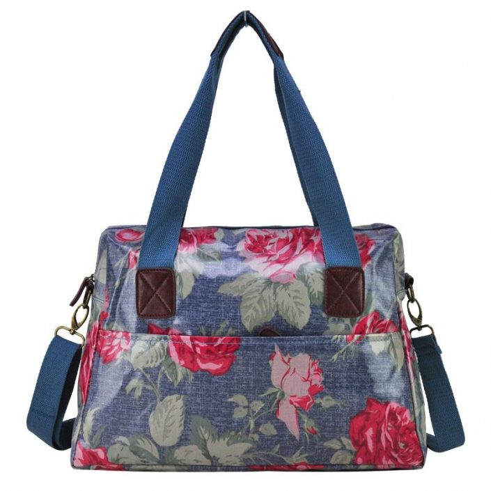 Girls Ladies Oilcloth Saddle Satchel Shoulder Messenger Bag A4 School College