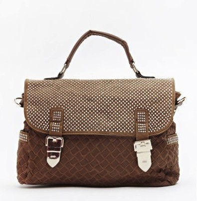 diamante-textured-handbag-brown
