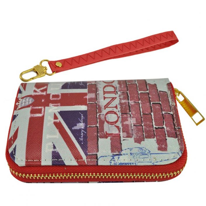 Vintage Short Wallet London Street Style Building Purse