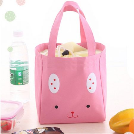 Pink-colourful-portable-travel-picnic-lunch-waterproof-insulated-thermal-cooler-bags