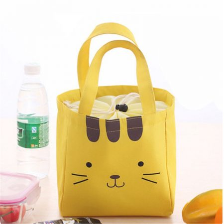 Yellow colourful portable punchbags and makeup bags