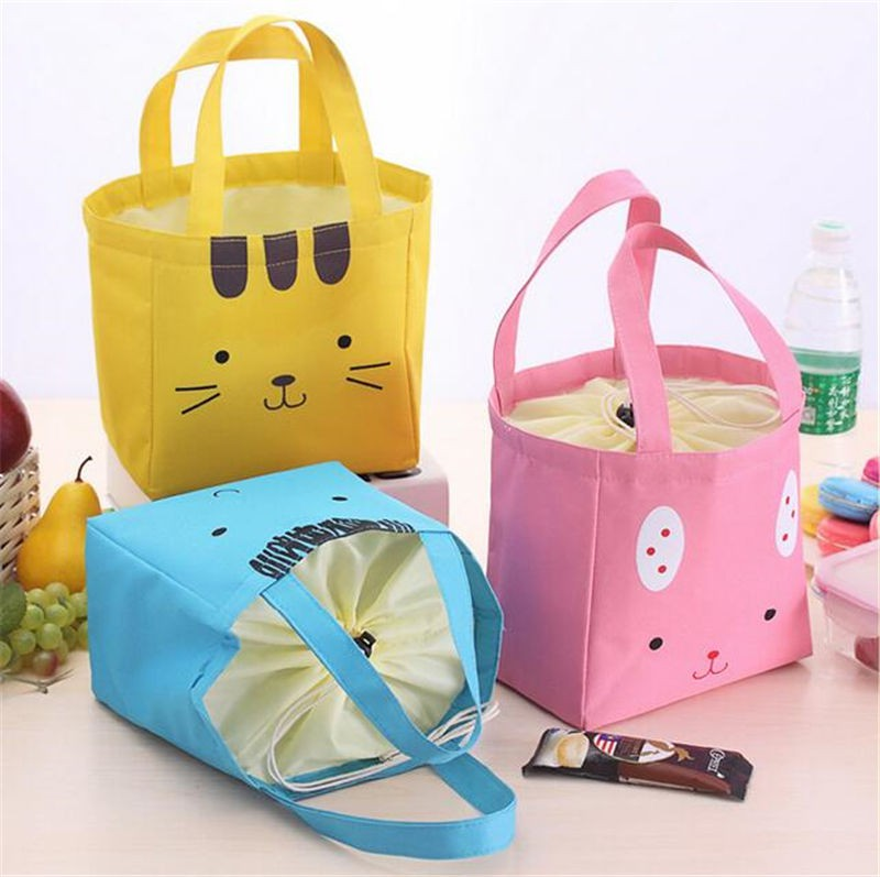 Insulated Portable Garage : Yellow colourful portable travel picnic lunch waterproof