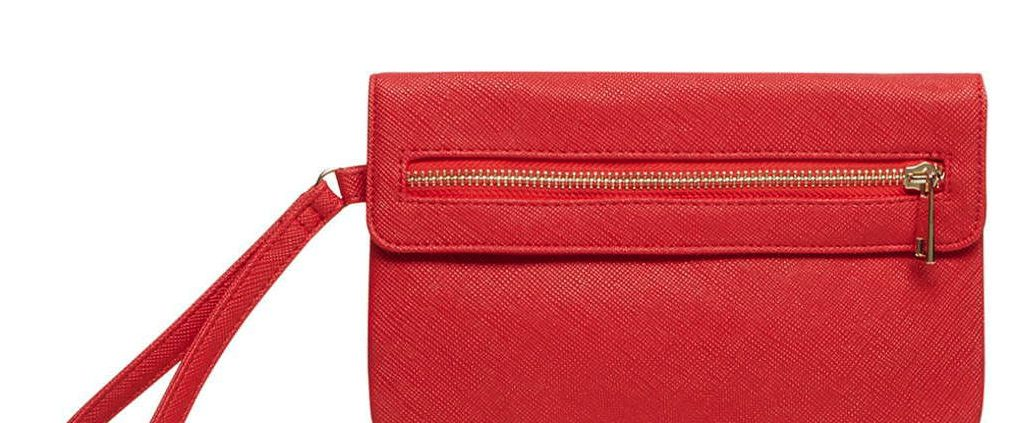 Red Foldover Wristlet Bag