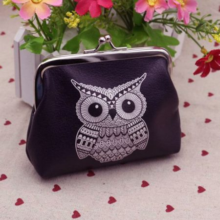 Cute Owl Elephant Pouch Wallet Card Holder Coin Purse Clutch Handbag Bag